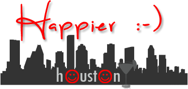 Happier Houston| Happy hour in Houston logo